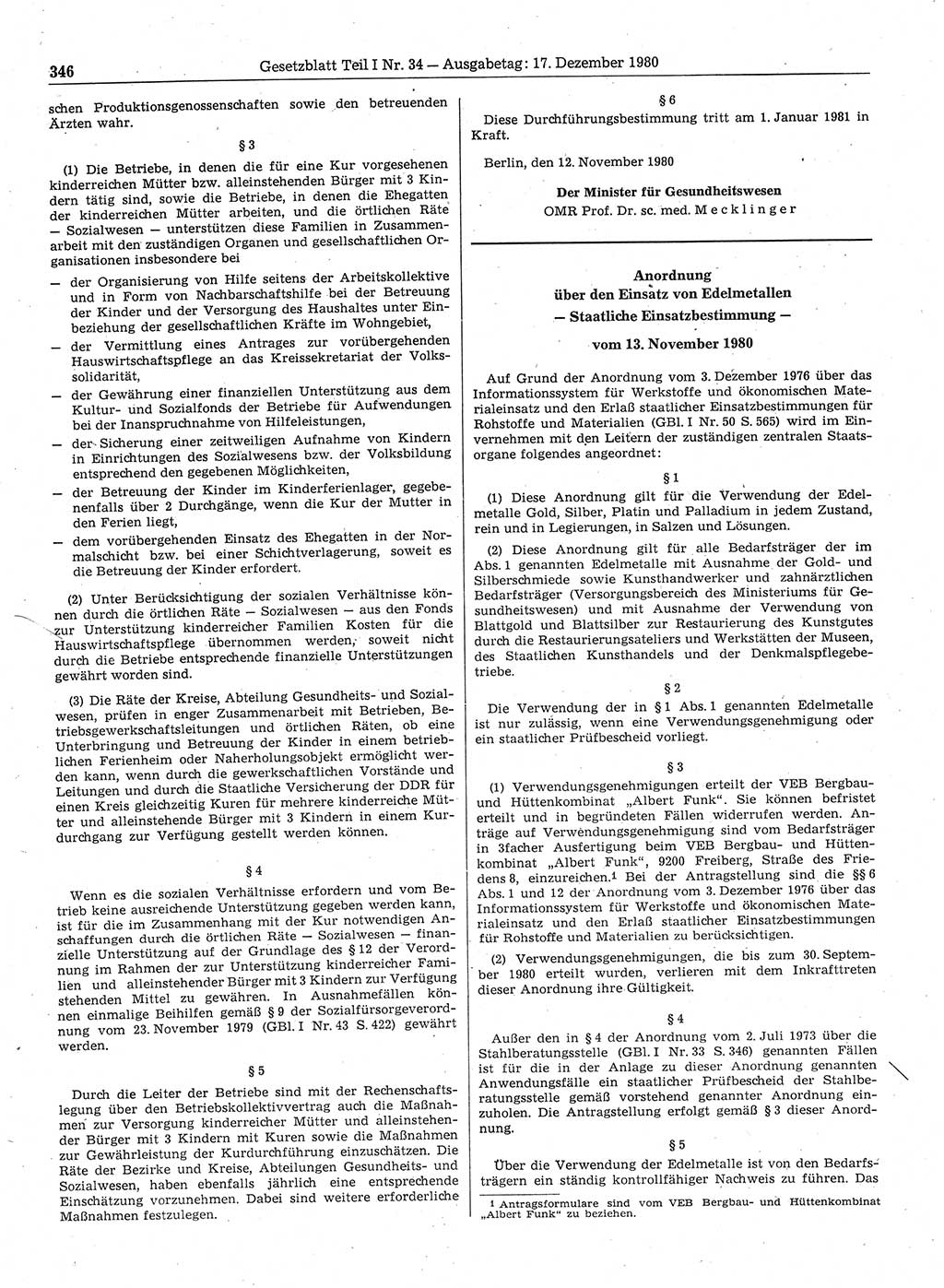 Gesetzblatt (GBl.) DDR Teil Ⅰ 1980, S. 346; Gesetzblatt ...